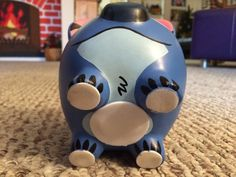 Lilo & Stitch Hand Painted Stitch Ceramic Piggy Bank Medium Pig Bank, Lilo Y Stitch, Personalized Piggy Bank, Pottery Painting, Student Gifts, Clay Pots, Pretty Art, Diy, Presents