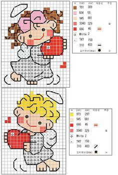 Great for that homemade Valentines card for the  little boy or girl in your life. No directions but chart is clear.