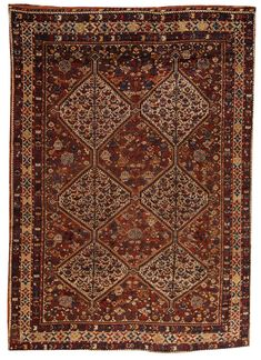 Antique Qashqai Carpet X - Fred Moheban Gallery Persian Carpet, Persian Rug, Carpet Flooring, Rugs On Carpet, Iranian Art, Silk Road, Agra, Tribal Rug, Oriental Rugs