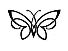 Free Designs Simple Black White Butterfly Tattoo Wallpaper