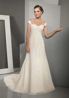 4511 - Delicate Chiffon with Crystal Beading