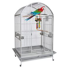A beautiful cage for #Cockatoos and Large #Macaws. Pet Bird Cage, Bird Cages, Parrot Cages For Sale, Parrot Perch, Amazon Parrot, African Grey Parrot, Parrot Toys, Gym Tops, Conure