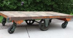Antique Nutting Industrial Shop Cart