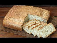 Stary przepis na chleb bez czekania, wystarczy wymieszać składniki i wstawić do piekarnika. Chleb nie kruszy się i na długo zachowuje świeżość How To Make Bread, Bread Making, Toffee, Food And Drink, Baking, Recipes, Youtube, Designer Shoes, Diet