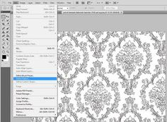 make custom patterns in photoshop & use them to fill line art, etc