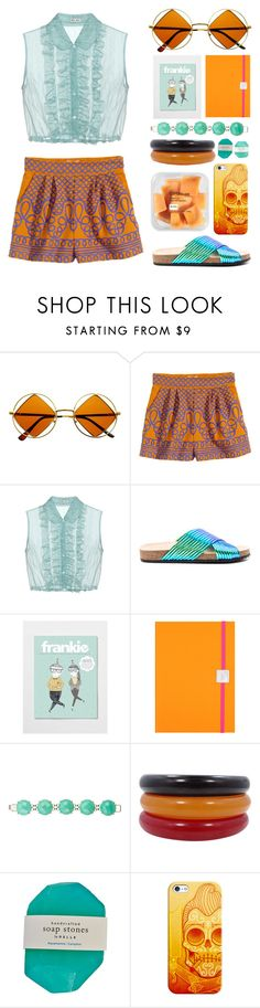 """""""Stones Throw From The Ocean"""" by dancing-free-living-free ❤ liked on Polyvore featuring Retrò, H&M, Miu Miu, Loeffler Randall, Undercover, Kendra Scott, Casetify and Pelle"""