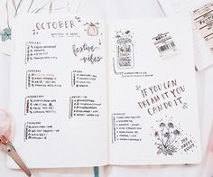 Spread from October credit to Tumblr user studywithinspo
