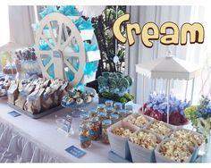 mesas de dulces bautizo niño - Buscar con Google