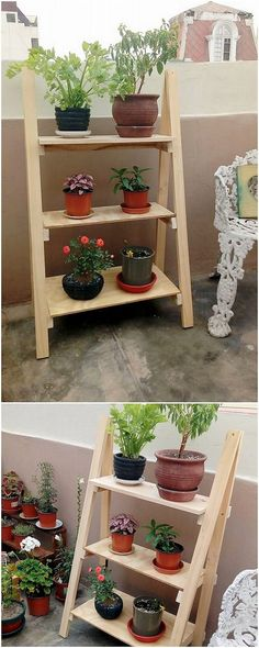 This is one of the beautiful wood pallet idea, here we have the latest fantastic idea of the planter pots stand creation for you. It is sophisticatedly designed out with the simplicity versions into it. Place it in your house lounge area and make it appear as much more catchier for your guests!