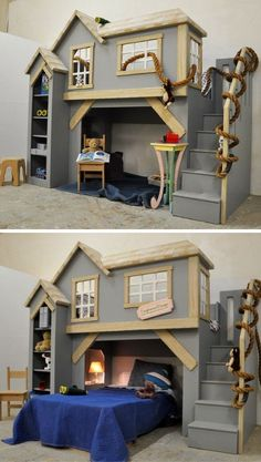Why do we love Spanky's Clubhouse so much? Well because it's so versatile! This indoor children's playhouse is gender neutral, and can also be used as a bunk bed or a loft bed. The classic design will never go out of style, and there is plenty of place to store toys. Click to see more.