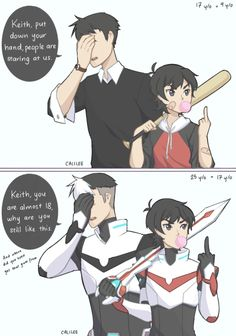 voltron legendary defender | shiro x keith | sheith