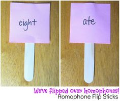 Simple, creative way to teach homophones. {Relentlessly Fun, Deceptively Educational}