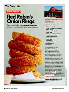 Copy That Secret Restaurant Recipes Bloomin Onion And