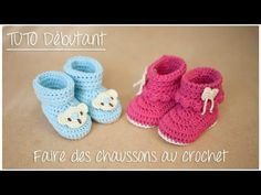 Slippers boots beginner hook (size birth to 12 months) - YouTube