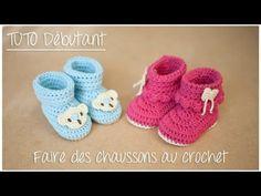 Semelles au crochet pour chaussons de bébé (Taille naissance à 12 mois) - YouTube