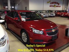Today's Special 2011 Chevy Cruz LT 32k, automatic, Bluetooth. For the best deal on wheels call Jim Zim @ 203-783-5850 ext 1308