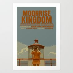 Moonrise Kingdom Art Print by FunnyFaceArt - $15.60