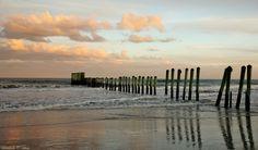 Mayport Poles Beach, the boundary between Hanna Park and Naval Station Mayport, Florida.