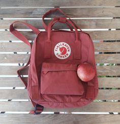 Everything is red and it's Friday in all the reds at Official worldwide partner of Mochila Kanken, Kanken Backpack, Aesthetic Backpack, Cute Bags, Bape, Purses, My Style, Projects, Red