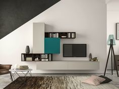 Sectional storage wall SLIM 101 Slim Collection by Dall'Agnese | design Imago Design, Massimo Rosa
