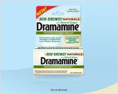Dramamine® Non-Drowsy Naturals, Dramamine®'s new first truly non-drowsy offering.