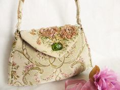 Wedding purse in fine brocade embroidered with by LoveThirties