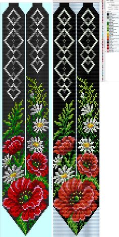 Bead Loom Designs, Beadwork Designs, Bead Loom Patterns, Beaded Jewelry Patterns, Beading Patterns, Native American Beadwork, Cross Stitch Rose, Family Crafts, Loom Beading