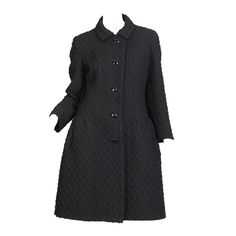 Chic Early 1960s Frank Gallant Wool Coat | From a collection of rare vintage coats and outerwear at https://www.1stdibs.com/fashion/clothing/coats-outerwear/