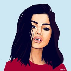 Selena Painting! #art #painting #selena #gomez #artist #drawing #illustration #blue #portrait #music