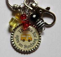 Bus Driver Gift Personalized KeychainThanks for by TrendyTz
