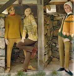 vintage ski Sixties Fashion, Ski Fashion, Holiday Fashion, Party Fashion, Autumn Fashion, Holiday Style, Vintage Ski, Vintage Winter, Stirrup Pants