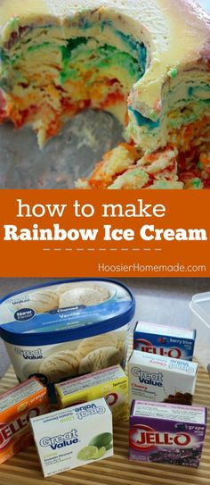 Easy Rainbow Ice Cream