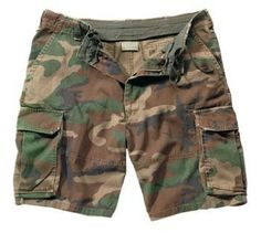Rothco Ultra Force Vintage Paratrooper - Men's Cargo Shorts - Woodland Camo