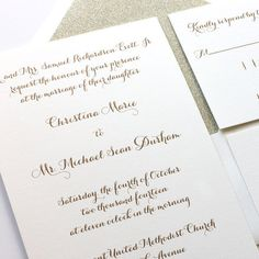 wedding invitations for the modern bride, quality thermography printing