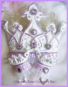 Lilac Princess Bed Crown Canopy Set
