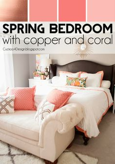 Spring Bedroom with copper and coral but Cuckoo4Design