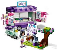 Buy LEGO Friends 41332 Emma's Art Stand from our Construction Toys range at John Lewis & Partners. Lego Girls, Toys For Girls, Kids Toys, Van Lego, Lego Friends Sets, Lego Machines, Lego Juniors, Art Stand, Creative Box