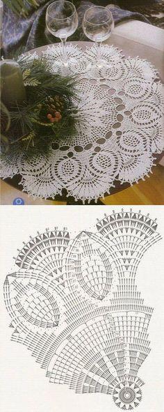 43 Ideas For Knitting Patterns Vintage Crochet Stitches Motif Mandala Crochet, Crochet Doily Diagram, Crochet Doily Patterns, Crochet Chart, Crochet Designs, Knitting Patterns, Filet Crochet, Thread Crochet, Irish Crochet