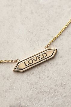 'loved' necklace #AnthroFave