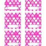 Free Valentines Day Printables  folded label cards  #valentines #pink #freebies  @Printable Party Shop  http://www.printablepartyshop.com