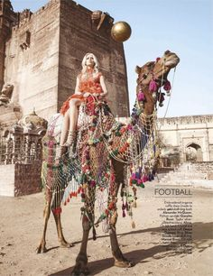 Scarlet Bindi - South Asian Fashion: Let the Games Begin in Vogue India July 2012