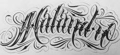 Letras Tattoo, Chicano Drawings, Tattoo Script, Graffiti Lettering, Tattoo Designs, Arabic Calligraphy, Letters, Writing, Tattoos
