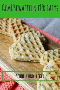 waffles for babies with broccoli and cheese- Porridge-free recipe: Vegetable waffles for babies without sugar are the perfect entry-level recipe from 6 months for the introduction of porridge-free complementary foods.Vegetable waffles for babies w. Avocado Dessert, Waffles, Baby Food Recipes, Healthy Recipes, Baby Snacks, Homemade Baby Foods, Broccoli And Cheese, Led Weaning, Evening Meals