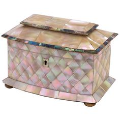 1stdibs - Victorian Mother of Pearl and Ivory Tea Caddy explore items from 1,700  global dealers at 1stdibs.com