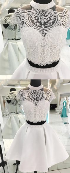 two-piece homecoming dress,white homecoming dress,homecoming dresses,homecoming