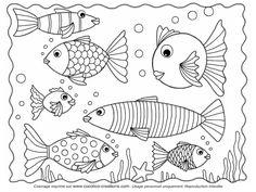 sous l'océan....  line drawing - illustration