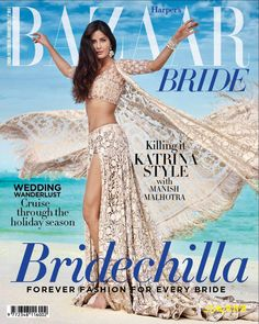 Katrina Kaif becomes as Sexiest Beach Bride. Katrina Kaif Sizzles As 'Beach Bride' In Harper Bazaar's. Katrina Kaif makes a perfect beach bride Katrina Kaif, Cover Design, Magazin Covers, Celebrity Magazines, Celebrity Pics, Fashion Magazines, Photoshoot Pics, Indian Photoshoot, Luxe Wedding