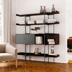 CTH Sherrill Occasional - Product Catalog Results Item Detail Page Wood Shelves, Shelving, Modern Loft, Bench With Storage, Storage Design, Door Wall, Ideal Home, Living Spaces, Bookcase