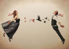 Relativity: Las pinturas surrealistas de Alex Hall