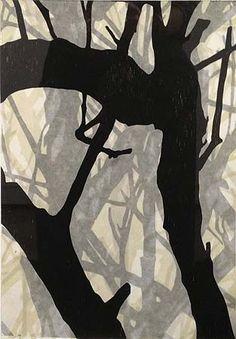 Helen Mueller, 'Requiem Study 11' 2013, woodblock print, overlayed - unique, 38 x 26cm
